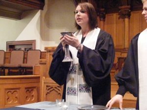 Rev. Leah Grundset, Associate Pastor (Resident) at Calvary Baptist Church; gifted preacher and pastoral caregiver; life of the party!