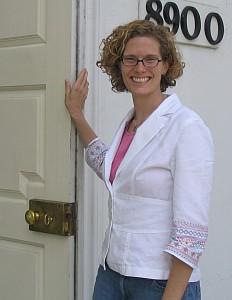 The ever-stylish Rev. Rachel Cornwell, pastor of Woodside United Methodist Church.